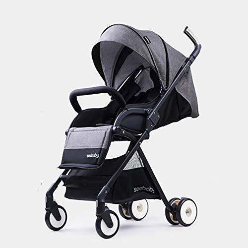 MOMAMO 3 in 1 Kinderwagen, Kombikinderwagen Buggy Babyjogger Reisebuggy Sportwagen Kids Slim kompakter Liegebuggy mit Sonnenverdec KLeichte Sitzbuggys-Diverse Farben