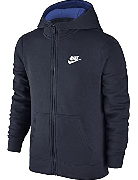 Nike B NSW Hoodie FZ Club Sudadera, Niños, Negro (Obsidian/Game Royal/White), M