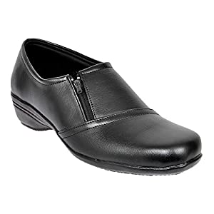Altek Black Synthetic Formal Shoe For Women (Size : 37 Euro, 7 Ind/Uk) Model: ALTEK_13_303