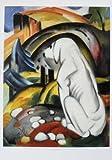 Franz Marc Der weisse Hund (Hund vor der Welt) Poster Kunstdruck Bild 55,5x37cm