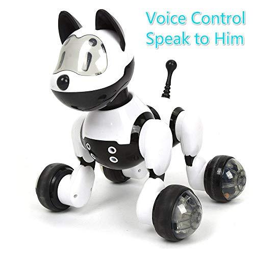 ZMH Sprachgesteuerter Interaktiver Pädagogischer Spielwaren-Intelligenter Elektronischer Haustier-Katzen-Hund Mit Singen, Das Intelligenten Roboter-Haustier-Weg-Robotertierspielzeuggeste Folgt,Dog