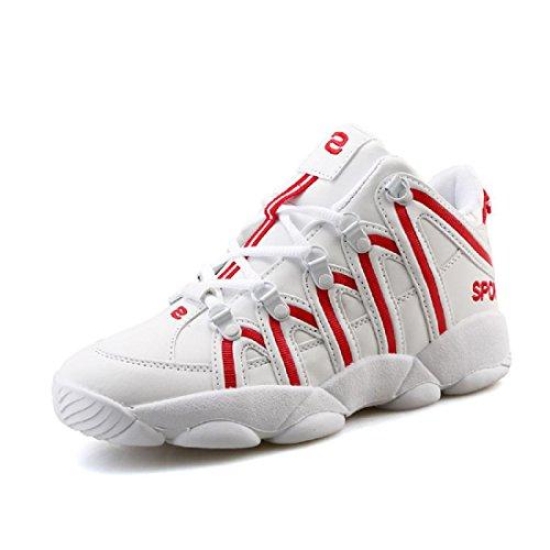 Uomo Moda Scarpe sportive formatori Scarpe da pallacanestro Aumenta le scarpe Antiscivolo Scarpe da corsa All'aperto euro DIMENSIONE 36-45 red