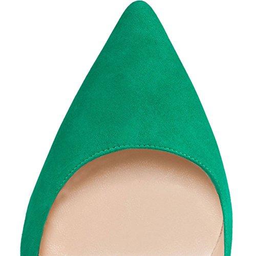 Camoscio Verde Fin Talon Femme Haut Merumote nWcq1wOIq
