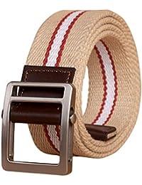 IOSHAPO Cinturones tácticos para hombres y mujeres Cinturón de correas de  trabajo pesado Ajustable militar Hebilla e056fccb44d1