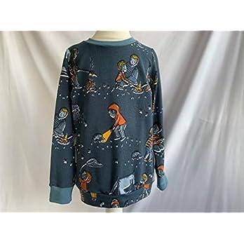 Pullover Zeltlager auf blau 110/116