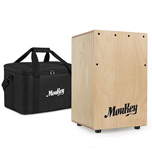 Moukey DCD-1K Cajon Drum für Kinder Natur mit Tasche