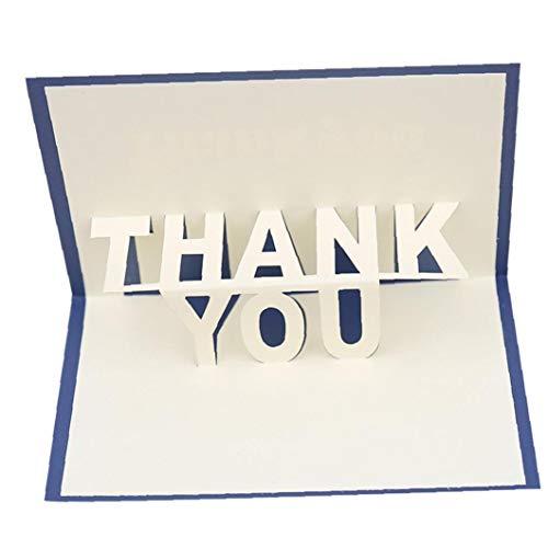 MICHAELA BLAKE Vielen Dank, DASS Sie Pop-Up-Handgemachte Karten Erntedank-Karten 3D-Pop-Up-Geburtstags-Karten Supplies Geschenke Pack 1