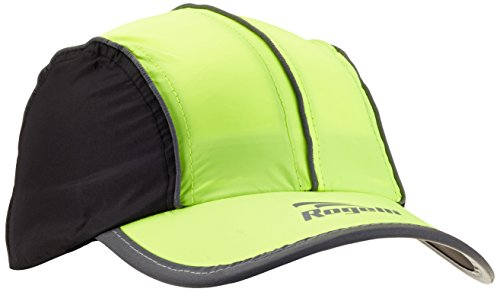 rogelli-cappellino-da-corsa-unisex-adulto-liberty-giallo-fluor-schwarz-taglia-unica