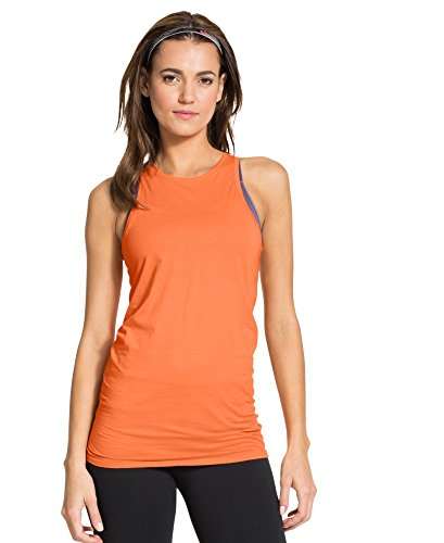 Under Armour Damen UA lang & Lean Tank groß, citrus Blast (Lean Tank-top Shirt)