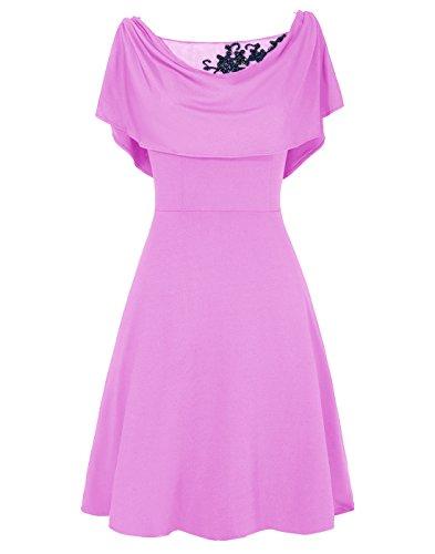 Dresstells, A-ligne robe courte de mère de mariée Lilas