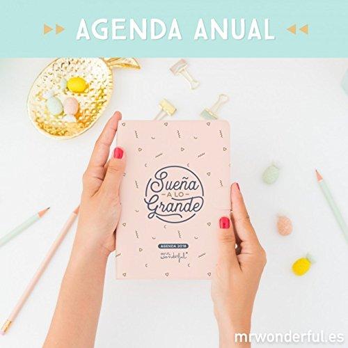 Mr. Wonderful WOA08862ES - Agenda pequeña 2018 día por página