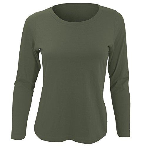 SOLS Majestic Damen Longsleeve / T-Shirt, Langarm Rot