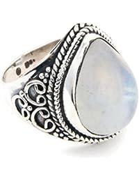 96a27e79951a Anillo de plata de ley 925 Piedra de luna x (MRI 107)