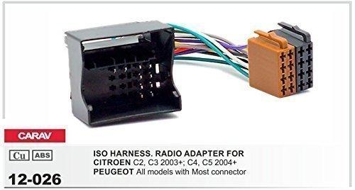 CARAV 12-026 ISO Radio d' AUTO Câble Adaptateur pour Citroen Peugeot
