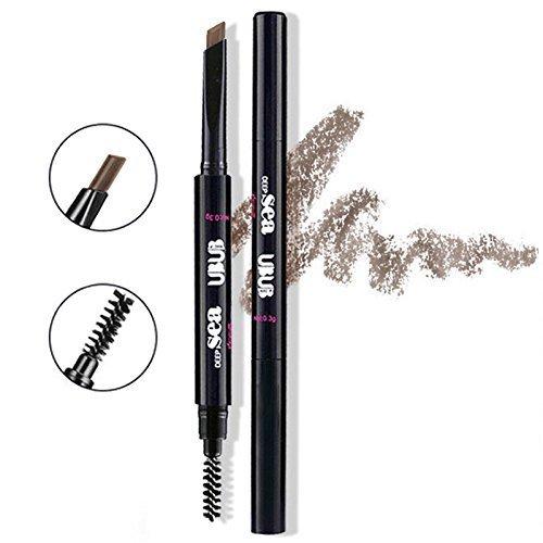HeyBeauty Augenbrauenstift mit Bürste, Wasserdicht Automatisch Make-up Stift Pinsel (Braun-2#)