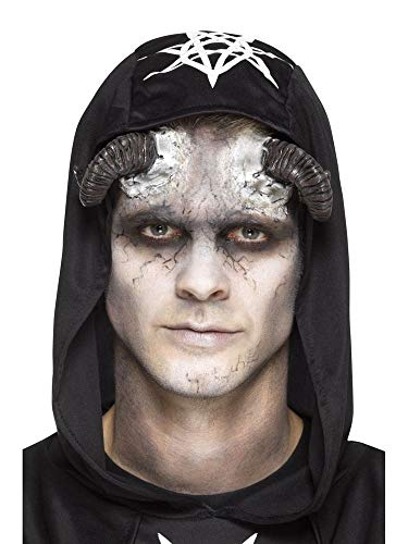Kostüm Hörner Gebogene - shoperama Prothesen Latex Hörner Dämon Faun Widder mit Kleber Cosplay Haut-Applikation FX Make-up Horror Halloween Damen Herren
