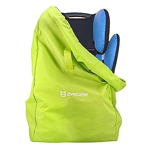 Kindersitz Transporttasche, Evecase Ultra-Leicht Faltbarer Transportrucksack für Kinderautositze Babyschalen Kinderwagen mit Wasserdichtem Nylon / Kordelzug / Schutzabdeckung / Tragegriff -