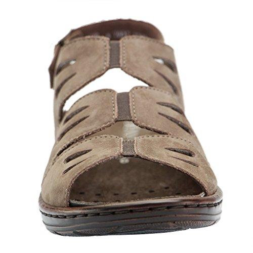 JENNY BY ARA Womens 22-56517 Sandals taupe  (walnut)