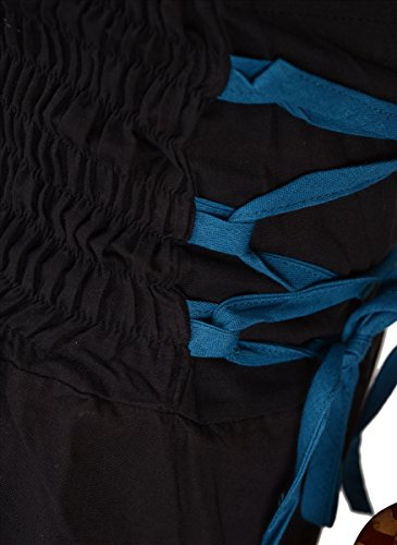 SNS cotone Harem pantaloni Yoga Abiti Capri Blue 2