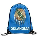 Etryrt Prime Sacs à Cordon,Sac à Dos, Flag of Oklahoma Cute Gym Drawstring Bags Travel Backpack Tote School Rucksack