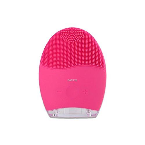 IMATE Electric Cleanser, waschen Pinsel, entfernen Black Beauty Instrument, Silikon Waschgerät, rot und blau Licht Akne