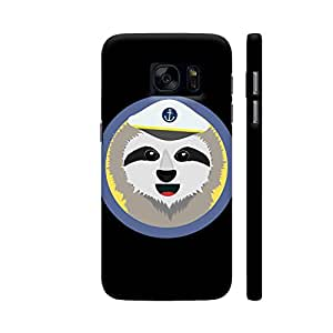 Colorpur Samsung S7 Cover - Sloth Captain With Hat Printed Back Case