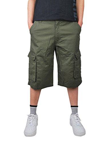 61ecce66ec9ec Menschwear Herren Vintage Cargo Shorts Bermuda Kurze Hose Sommer Kurze Hose  militärin Grün