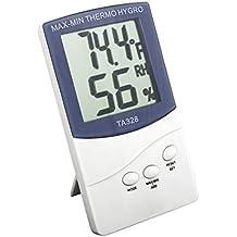 Lzn Dispositivo de medición precisa de la temperatura digital Termo-higrómetro Higrotermógrafo de temperatura para la oficina en casa