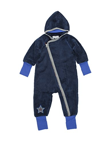 Phister & Philina Baby - Jungen Spieler Genesis Teddy Kuschelfleecespieler, Blau (Ensing Blue Ens), 68