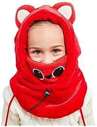 VIVO SUN Enfant Bonnet d Hiver Cagoule Bébé Écharpe Fille Garçon Cache-Oreilles  Calotte 6e4d53a1bc1