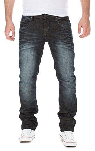 SHINE Original Herren Jeans / Straight Fit Jeans Michael Blau