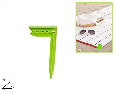 Vetrineinrete® picchetti fermatelo 4 pezzi per telo mare spiaggia antivento picchetto per sabbia terreno campeggio 15 x 3 cm g44