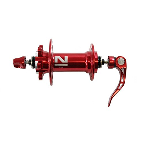 NOVATEC Mozzo anteriore D771SB mtb disc superlight 3in1 32 fori rosso 2016 (Mozzi Mtb) / Front hub D771SB mtb disc superlight 3in1 32 holes red 2016 (Mtb Hubs)