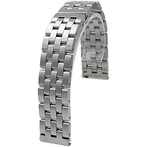 20mm cadena liberación rápida de acero inoxidable de sólido venda de reloj de la correa con la mariposa Broche para Samsung Gear S2 Classic platino / Moto 360 42mm plata