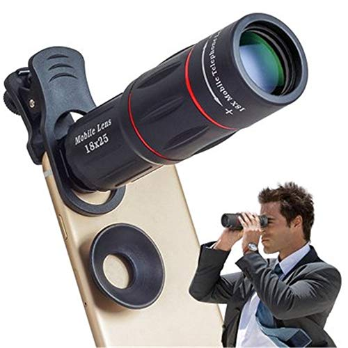 MCJL 18X-Teleum-Teleskop, Kamera-Telefon-Zoomobjektiv mit Stativ-Halterung für iPhone Samsung...