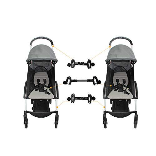 Manyo 3Pcs Connecteur pour Poussette, Poussette yoyo Accessoire Ajustable Poussette Double Attache Poussette Adaptateur Extérieur Enfant Accessoires pour Bébé Jumeaux