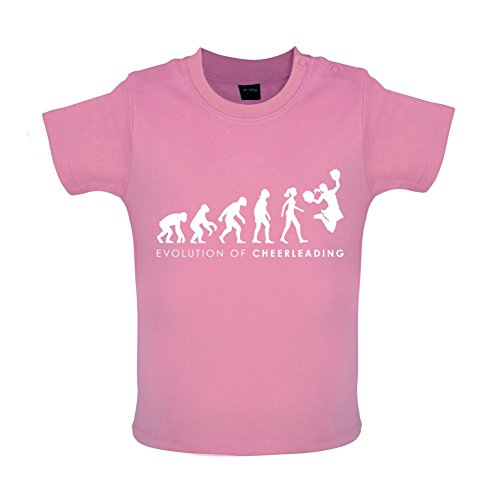 Evolution of Woman - Cheerleading - Baby T-Shirt - Bubble-Gum-Pink - 3 bis 6 (Pink Kleinkind Kostüm Lady)