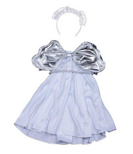 Silber Engel Kleid Teddybär Outfit ()