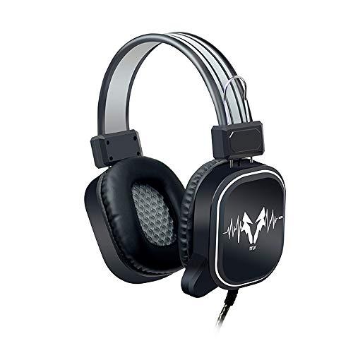 Yowablo Kopfhörer Gaming 3,5 MM Kabelgebundene Kopfhörer Headset Mic Noise Cancelling Für PC(Schwarz)