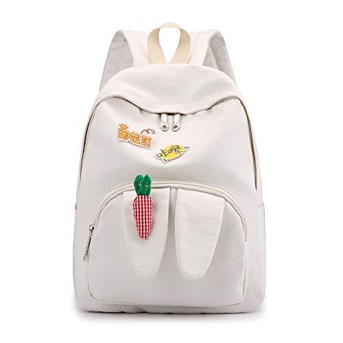 Dakecy Lady Rucksack Mode niedlichen Kaninchen Rucksack Freizeit Reiserucksack Schultasche (Für Rucksack Unterwegs Niedlichen)