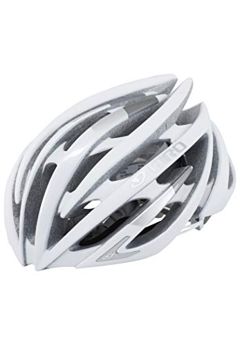Giro Aeon Rennrad Fahrrad Helm weiß/silber matt 2019: Größe: M (55-59cm)