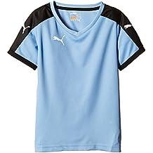 Puma T-Shirt Pitch Short Sleeve, Camiseta de Fútbol para Niños, Azul (Team Pearl Blue/Black), 9-10 Años (Talla del Fabricante: 140)