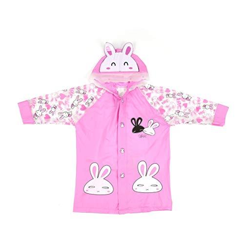 fghfhfgjdfj Lovely Cartoon Raincoat Waterproof for Boys Girls Long Hooded Rain Coat Outdoor Rainwear Suitable for Students Schoolbag Hooded Lightweight Coat
