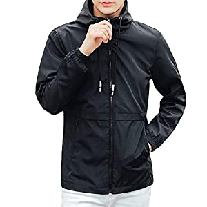 Windbreaker Herren Winter Hoodie Schwarz Faux Coat Softshell Solide Patchwork Wasserdicht Winddicht Outdoor Coat
