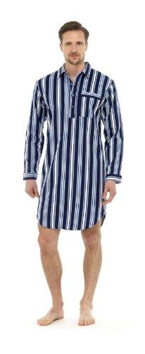 Mens Tradizionale A righe camicia da notte camicia da notte