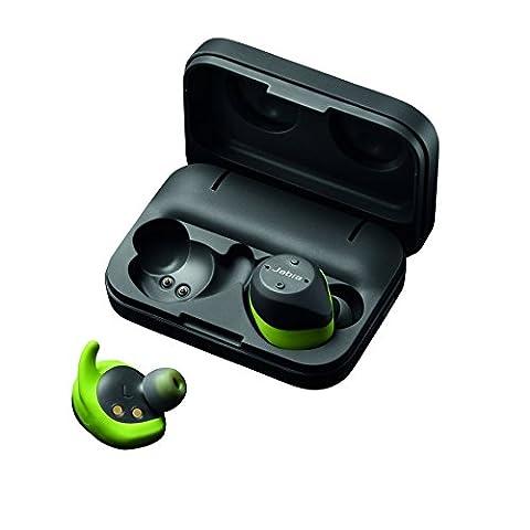 Jabra Elite Sport (autonomie 4,5h) Casque Audio sans fil avec Moniteur cardiaque / Traqueur d'activité / Coaching Vocal -