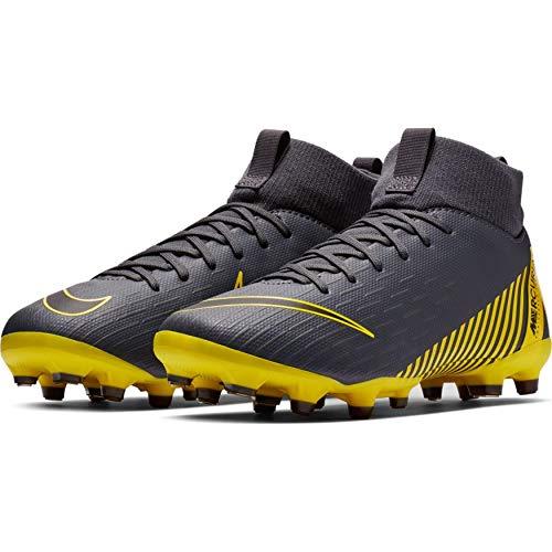 Nike Unisex-Kinder Superfly 6 Academy MG Fußballschuhe, Grau Black/Dark Grey 070, 36 EU