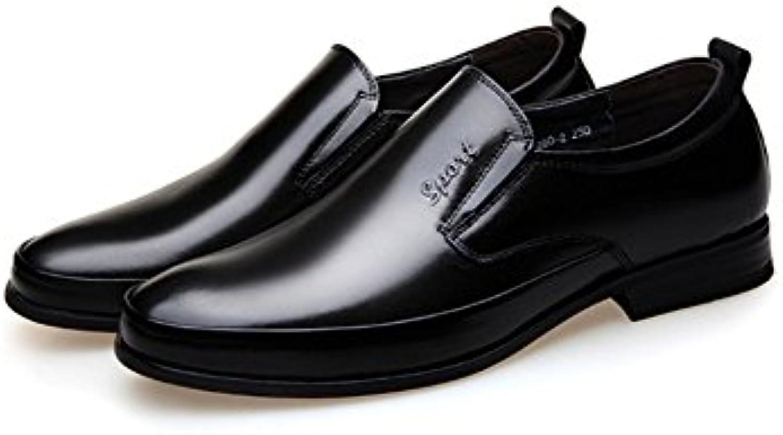 LYZGF Hombres Jóvenes Negocios Ocio Moda Caballero Marriage Zapatos De Cuero. -