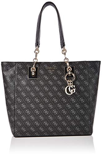Guess Damen Logo Rock Tote Grau (Coal), 12.5x30.5x41 centimeters
