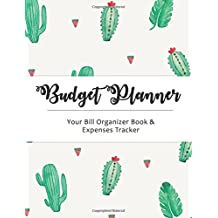 Budget Planner: Cactus Large budget planner, (8.5x11 inches) : Expense tracker for 24 Months (VOL 1)